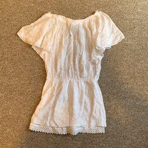 White stitched summer dress